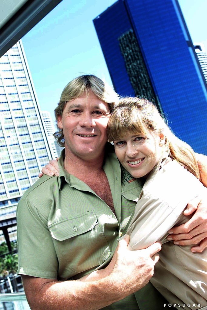 "TV personality and Australian wildlife expert Steve Irwin (aka ""The Crocodile Hunter"") passed away in 2006 after he was attacked by a stingray, but his memory lives on in the hearts of his wife, Terri, and their children, Bindi, 18, and Robert, 13. Steve and Terri wed in 1992 after dating for only eight months and they would have celebrated their 25th anniversary on June 4. In honor of the special milestone, Terri penned a heartfelt message for her late husband on Twitter, writing, ""Today would have been our 25th wedding anniversary. I miss you so very much, and I am grateful every day for the time we had together."" Along with her note, Terri posted a black and white photo of the two kissing with an iguana on their heads. Relive some of Steve and Terri's best moments together.      Related:                                                                                                                                Robert Irwin Takes After His Dad and Appears on The Tonight Show With a Few Wild Animals"