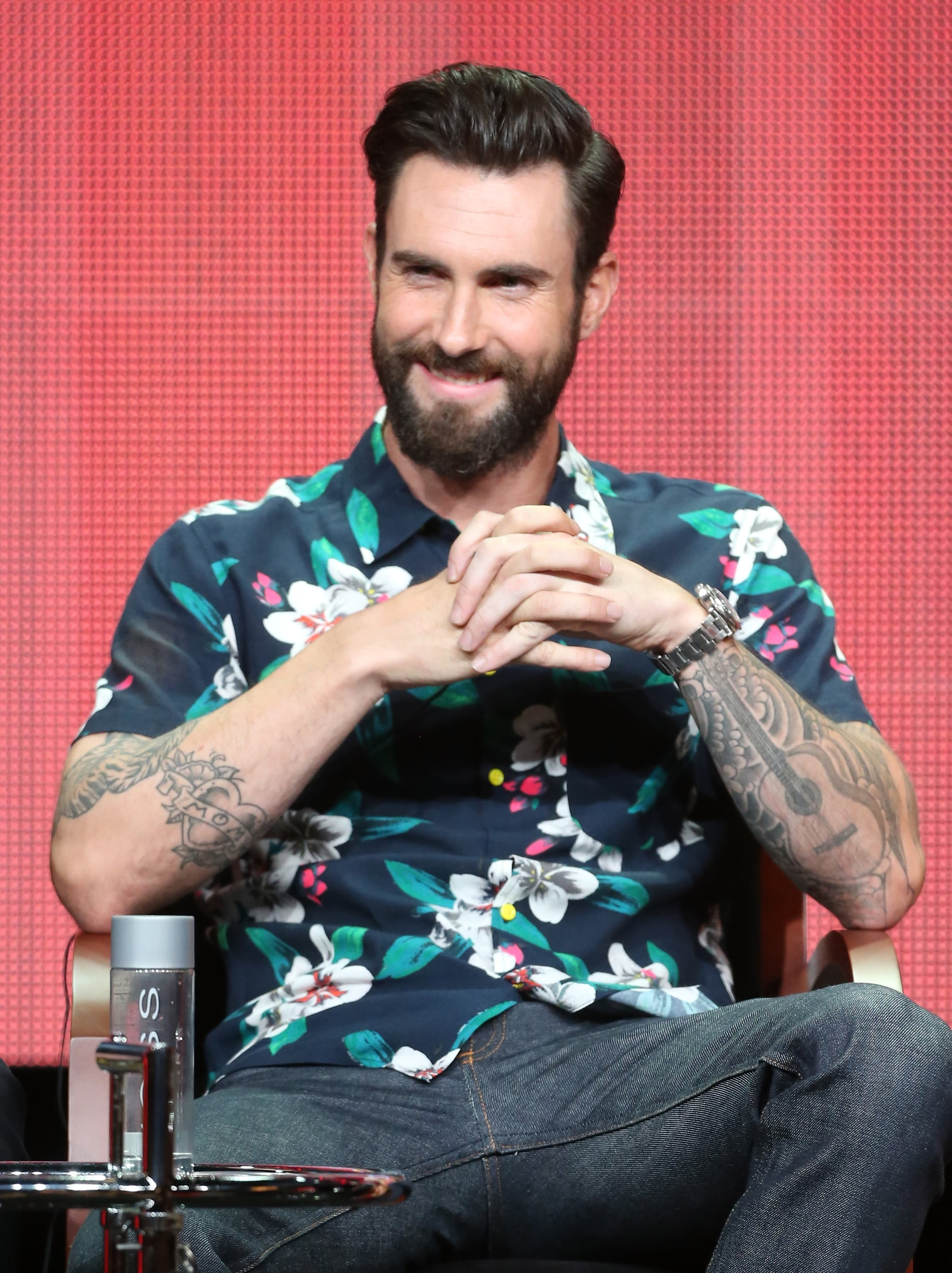 """Adam Levine """"Carson is the most high-profile babysitter in the world."""" — On The Voice host Carson Daly, at the show's panel"""