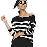 POPSUGAR Striped Oversized Boatneck Sweater