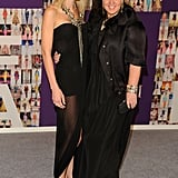 Jessica Stam, in Giambattista Valli, with Dana Lorenz, in Lanvin, both in Fenton/Fallon jewelry