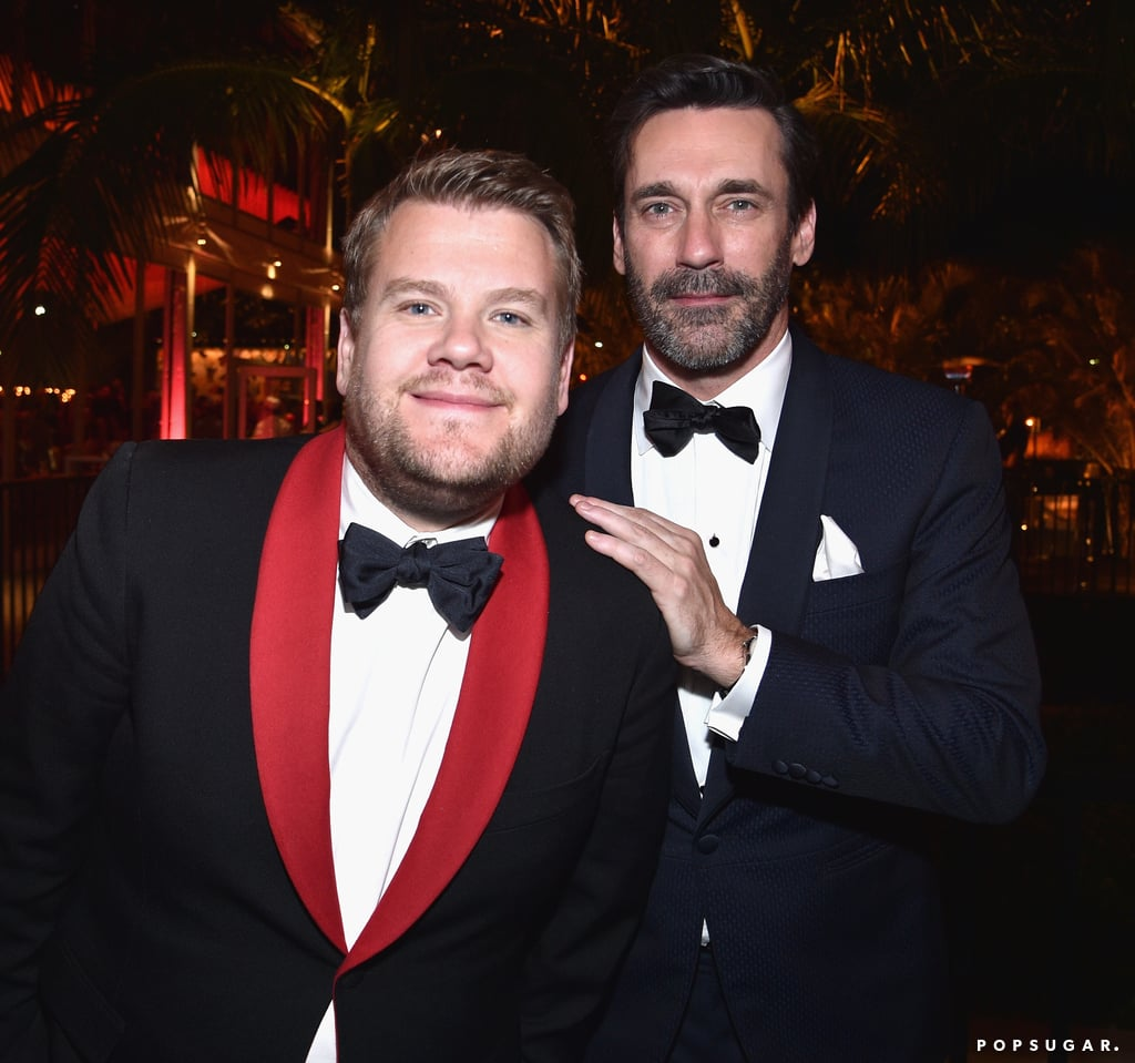 Pictured: Jon Hamm and James Corden