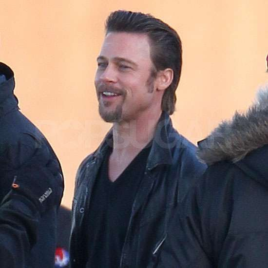 Pictures of Brad Pitt Filming Cogan's Trade as Angelina Jolie Expands Her Jewellery Line