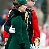 Will made sure his pregnant wife was OK as they took in annual St. Patrick's Day festivities in March 2018.