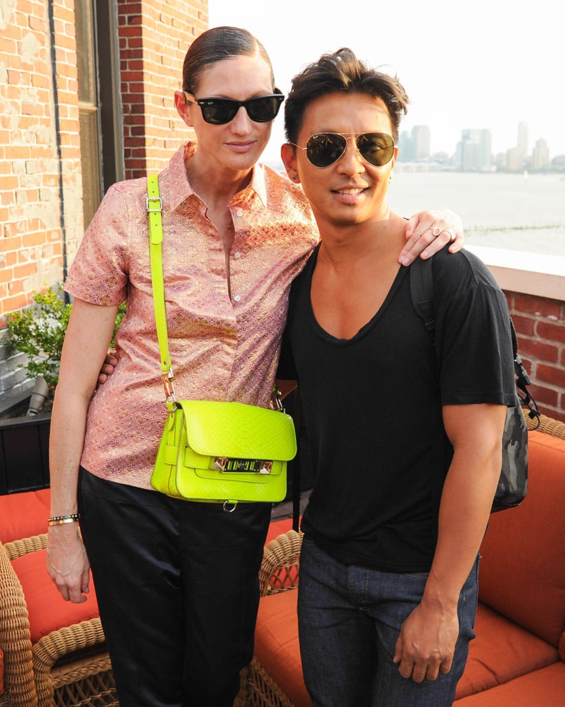 Jenna Lyons and Prabal Gurung at the Liberty United and Giles & Brother collaboration debut in New York. Source: Billy Farrell/BFAnyc.com