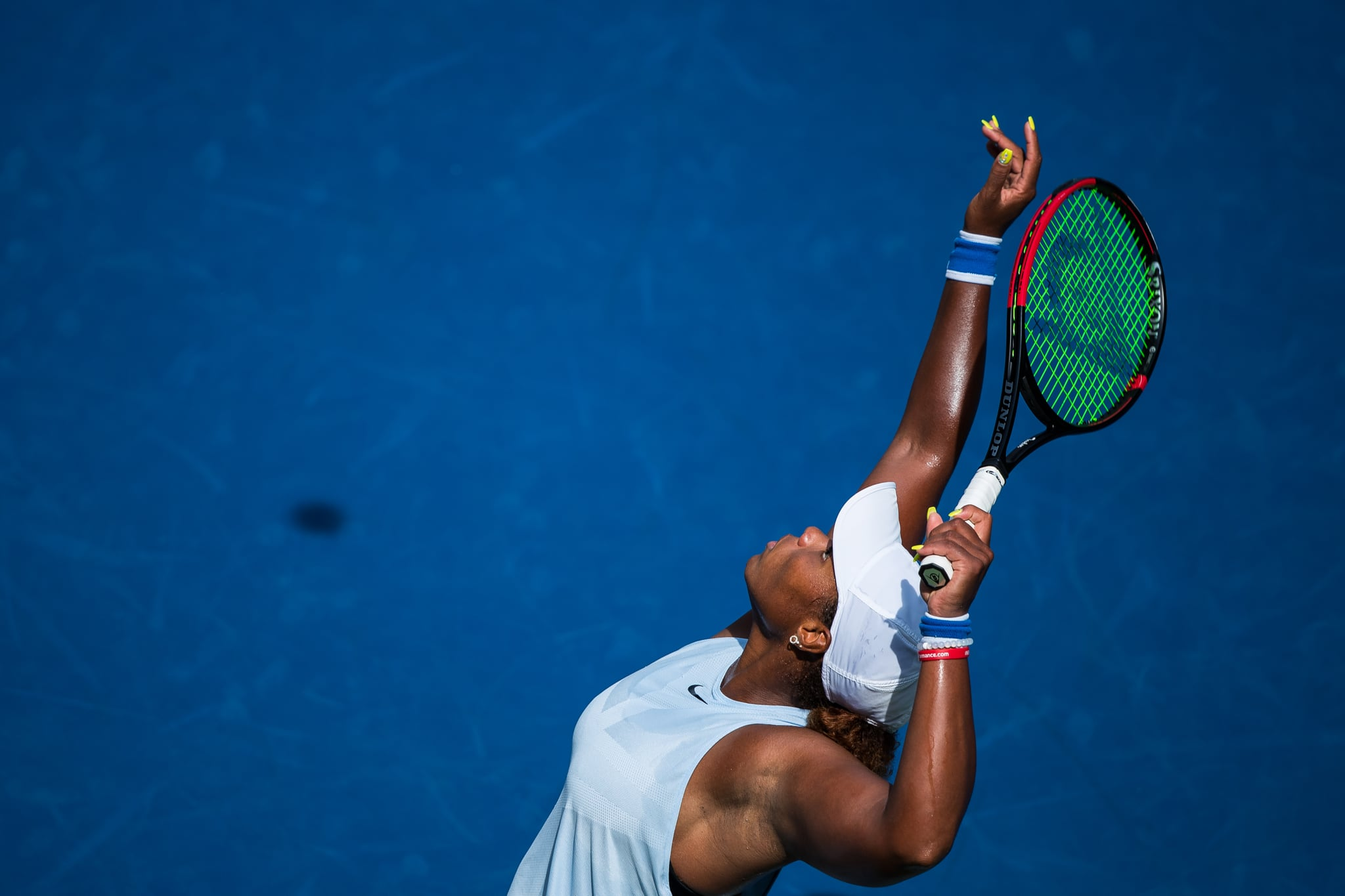 NEW YORK, NEW YORK - AUGUST 31: Taylor Townsend of the United States serves a shot during her 3rd round day 6 Women's Singles 2019 US Open match against Sorana Cirstea of Romania at the USTA Billie Jean King National Tennis Centre on August 31, 2019 in Queens borough of New York City. (Photo by Chaz Niell/Getty Images)