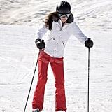 Kate Middleton dug her poles into the snow on a ski vacation in France.
