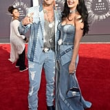 At the VMAs, Riff Raff and Katy Perry paid homage to an iconic fashion moment from Britney Spears and Justin Timberlake.