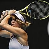 Caroline Wozniacki At the Australian Open
