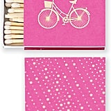 There's no need to hide your matches; this bicycle matchbook ($6 for set of two) is stylish enough to leave out.