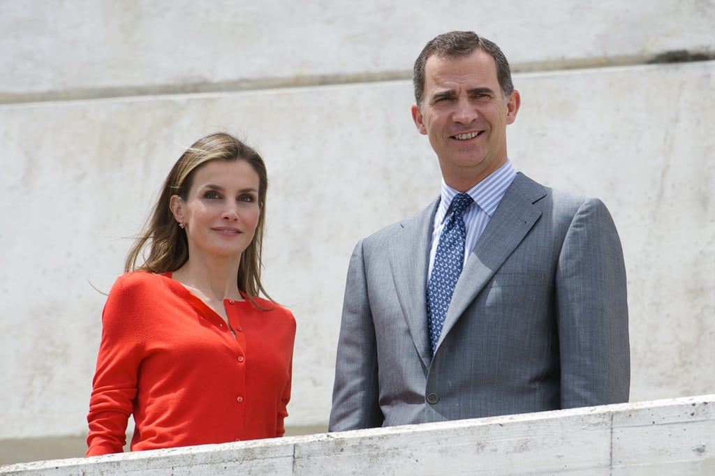Spanish royals Queen Letizia and King Felipe VI attended the National Innovation and Design Awards in Valladolid, Spain, on Tuesday.