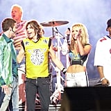 Justin Timberlake and Britney Spears joined Steven Tyler on stage in 2001.