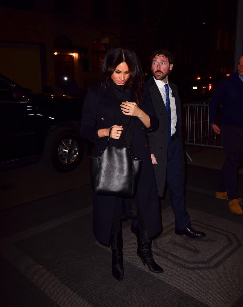 Meghan Markle Wears Black Boots in New York City Feb. 2019