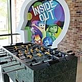 You can play foosball and pool in the entrance, too.