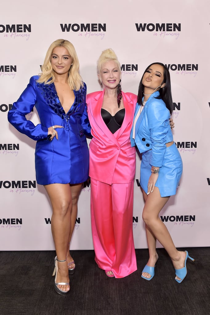 Cyndi Lauper, Bebe Rexha, and Becky G at the 2020 Women in Harmony Brunch in LA