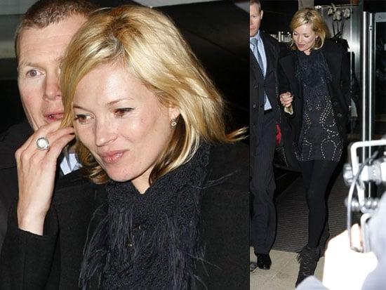 Photos of Kate Moss Leaving the Topshop Offices in London 2009-02-06 02:00:00