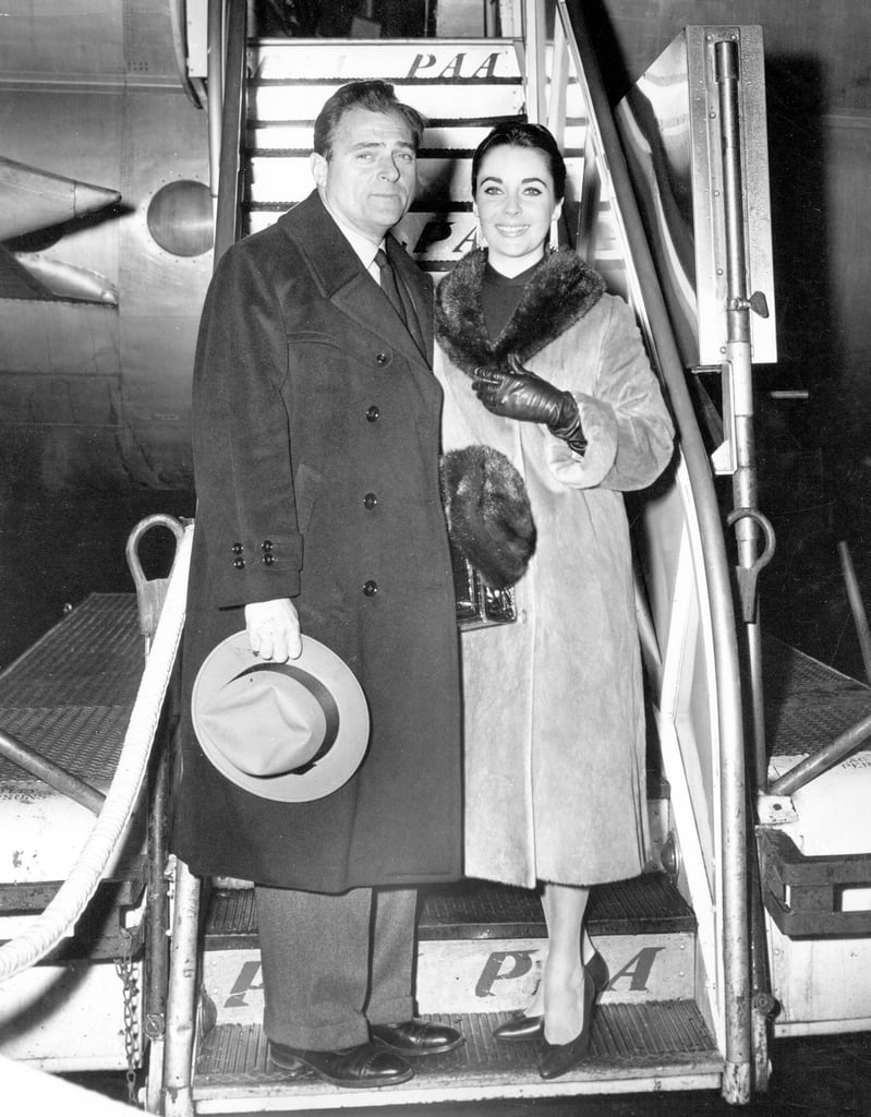 Elizabeth and her then-husband Mike Todd in 1958.
