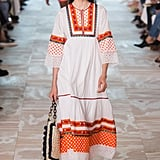 Wouldn't this airy piece look lovely with Kate's espadrilles? We already know she feels comfortable in Tory's bright color palette.  Tory Burch Spring 2017