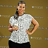 On Tuesday, Alicia Keys dazzled at the launch of Givenchy's Dahlia Divin scent in NYC.