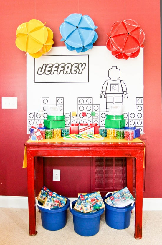 The Lego Favor Table Lego Themed Party Popsugar Family