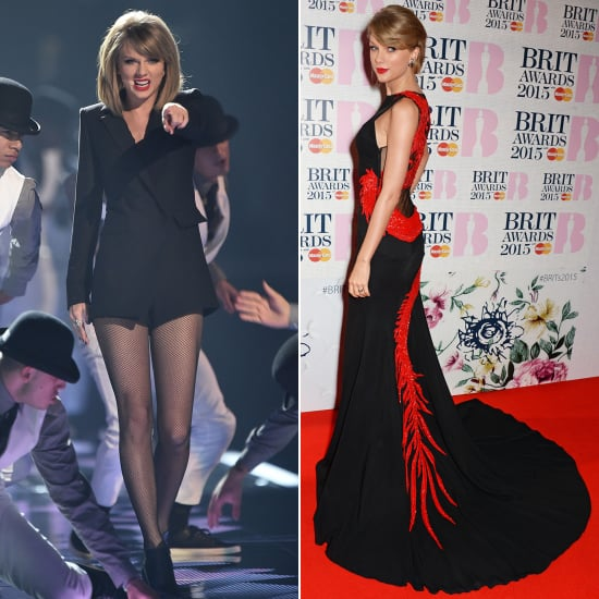 Taylor Swift's Outfits at the Brit Awards 2015