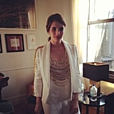 Emma Roberts dressed up in sequins for a Persol party. Source: Instagram user emmaroberts6