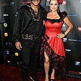Mauricio Umansky and Kyle Richards as Zorro and Elena