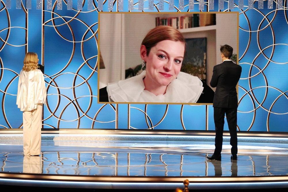 هفتاد و هشتمین جوایز سالانه GOLDEN GLOBE GLOBE - در تصویر: Emma Corrin (c) جایزه بهترین بازیگر تلویزیونی - سریال درام را برای
