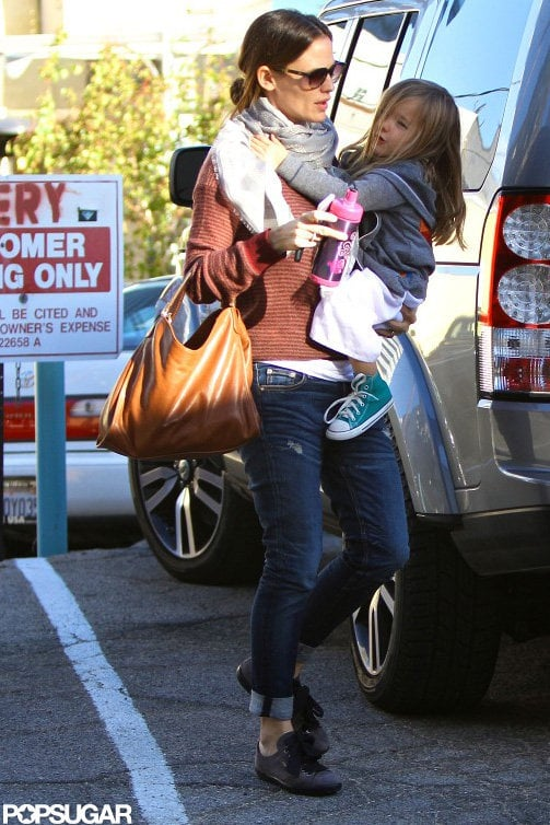 Jennifer Garner hung out in LA with her middle child, Seraphina Affleck, yesterday. Seraphina was decked out in her karate gear to attend a class in the afternoon. Jen was able to do pickups and drop-offs following a trip out of town. Jennifer Garner spent part of the week in New Orleans, where production will soon begin on her new movie The Dallas Buyers Club. Later this month, she'll start work on the picture, in which she stars alongside Matthew McConaughey and Jared Leto. While Jen was in Louisiana, her husband Ben Affleck stayed behind in LA to keep an eye on their three kids, Sera, Violet, and Samuel.