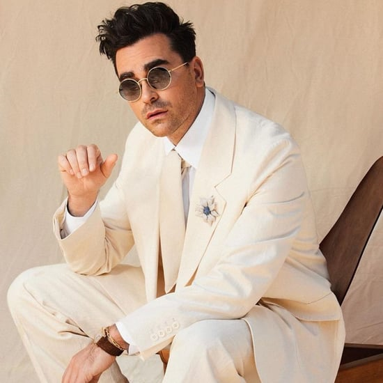 Dan Levy in The Row Cream Suit at 2021 SAG Awards