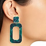 TEN79LA Rectangle Drop Earrings