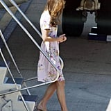 Kate donned her trusty L.K. Bennett heels.