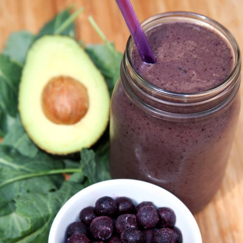 Pineapple Kale Avocado Smoothie