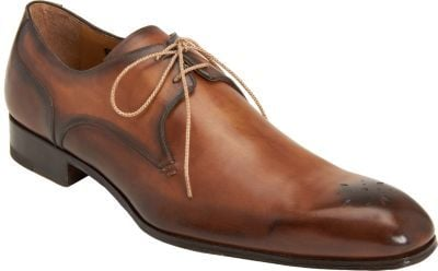Harris Burnished Medallion Toe Blucher