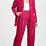Endless Rose Velvet Blazer and Wide Leg Pants