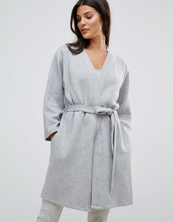 Calvin Klein Quilted Robe | Angelina Jolie Wearing Gray Robe ... : quilted robe - Adamdwight.com