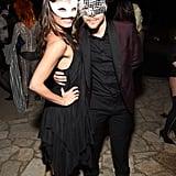 Derek Hough and Hayley Erbert in Masquerade Masks