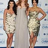 Kim Kardashian, along with her sisters, Kourtney and Khloé, attended the People's Choice Awards in January 2011.