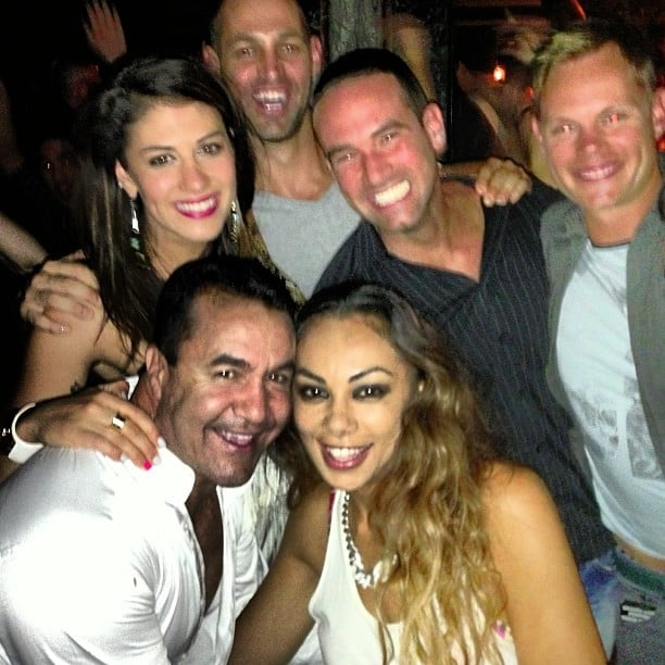 Some of the cast enjoyed a night out together, including Stephanie Rice, Prinnie Stevens, Jeff Fenech and Dane Bouris. Source: Instagram user itsstephrice