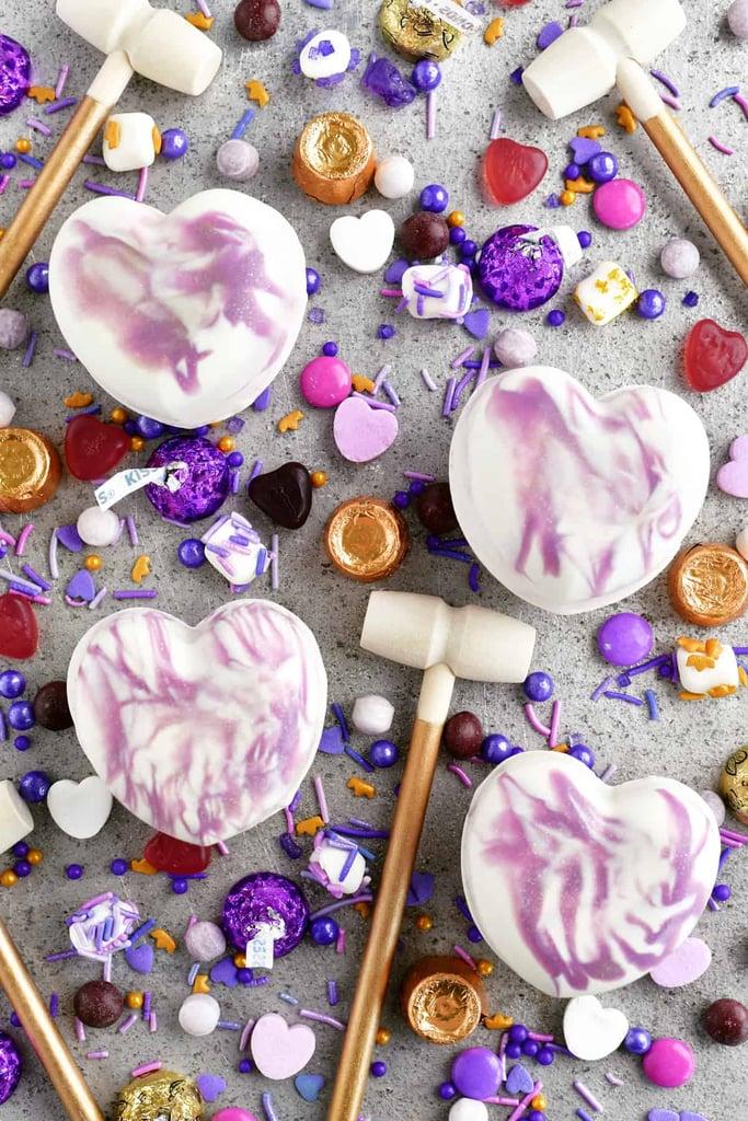 Breakable Chocolate Hearts