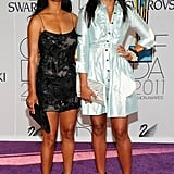 Joy Bryant with Rachel Roy, both in Roy's designs