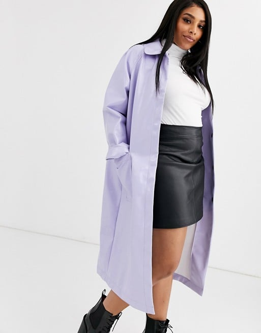 ASOS Curve Patent Trench Coat