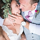 """""""We chose this image because it encapsulates everything we love about weddings: the joy, the romance, the intimacy and how it all come down to the simplicity of two people are truly and madly in love."""" — Randy and Ashley Durham"""