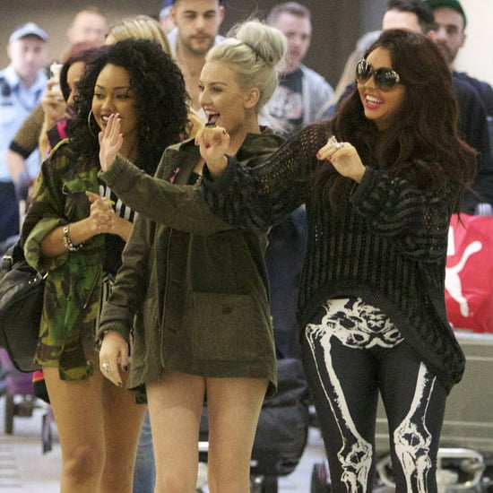 Little Mix Pictures Arriving at Sydney Airport Greeting Fans