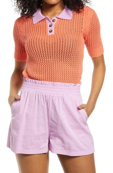 BP. Organic Cotton Polo Sweater