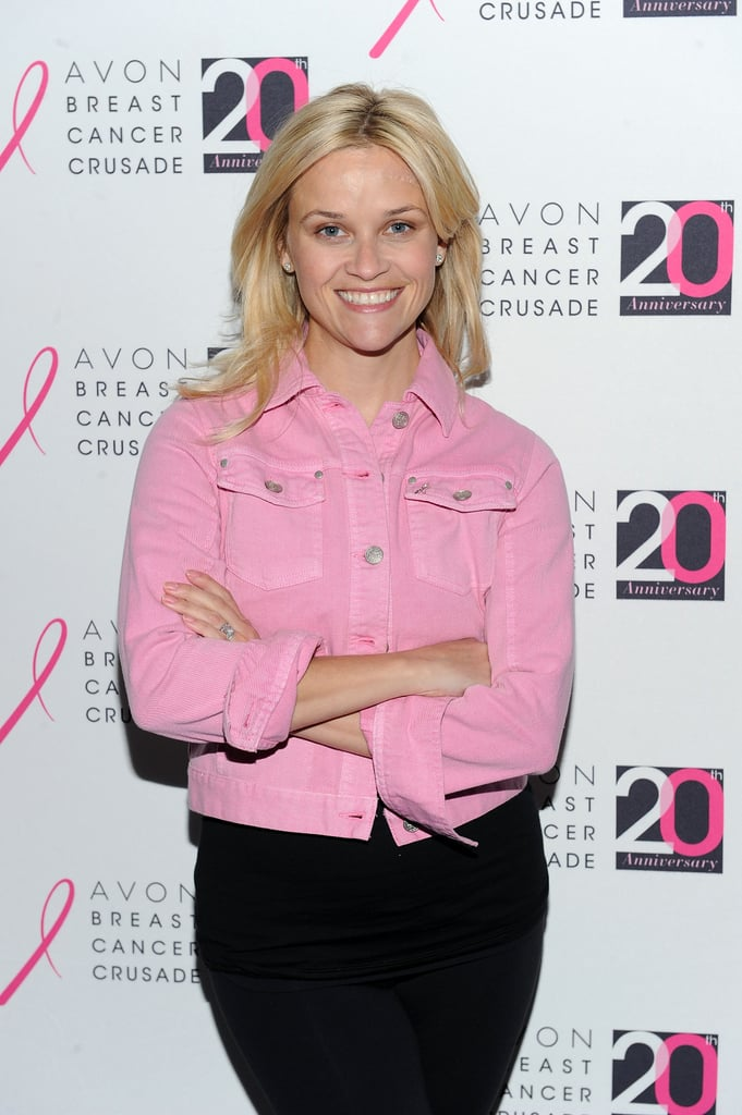 Reese Witherspoon arrived at the event in a pink jacket.