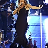 Mariah Carey was on stage.
