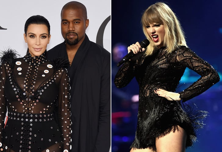 August: Kim Kardashian and Kanye West vs. Taylor Swift