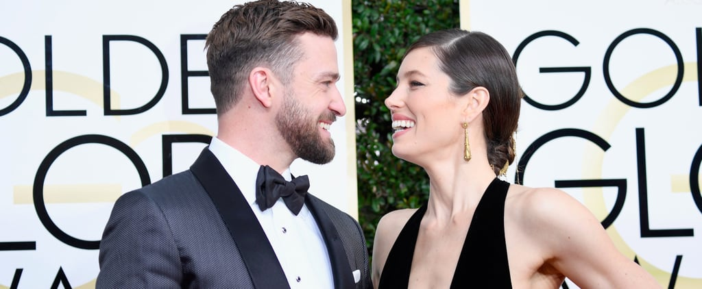 Justin Timberlake and Jessica Biel Have a Case of the Golden Globes Giggles