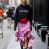 Style It With a Hoodie and Ruffled Skirt