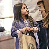 Suri Cruise Pictures With Katie Holmes at Whole Foods in NYC